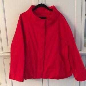 Red bubble rain jacket